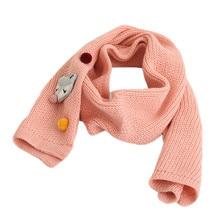 Детский шарф на осень-зиму для мальчиков и девочек; новые модные теплые длинные шарфы; вязаный шарф с рисунком лисы для малышей; удобный теплый шарф