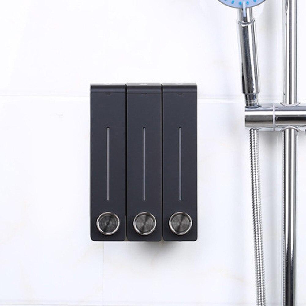 3pcs/set Liquid Soap Dispenser Wall Mount Bathroom Accessories Plastic Detergent Shampoo Dispensers Kitchen Cleaner Press Bottle