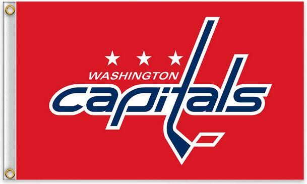 Washington Capitals flag American flag 100D Polyester free shipping