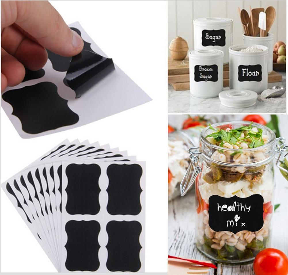 Chalkboard Mason Jar Labels for Canning, Pantry, Spice Jars & Freezer! Waterproof chalkboard labels