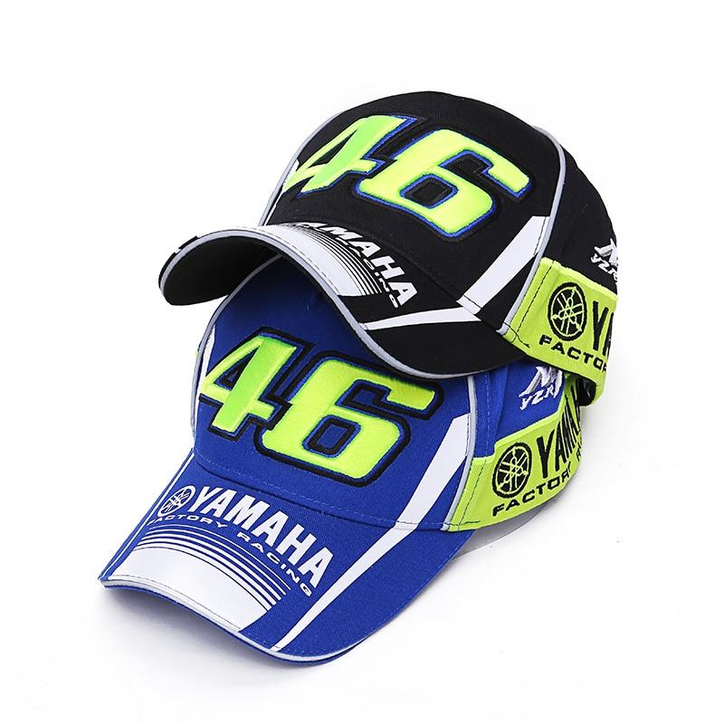 terbaru gaya merek baseball cap moto gp rossi vr46 pabrik racing motorcycle 46 snapback topi pria