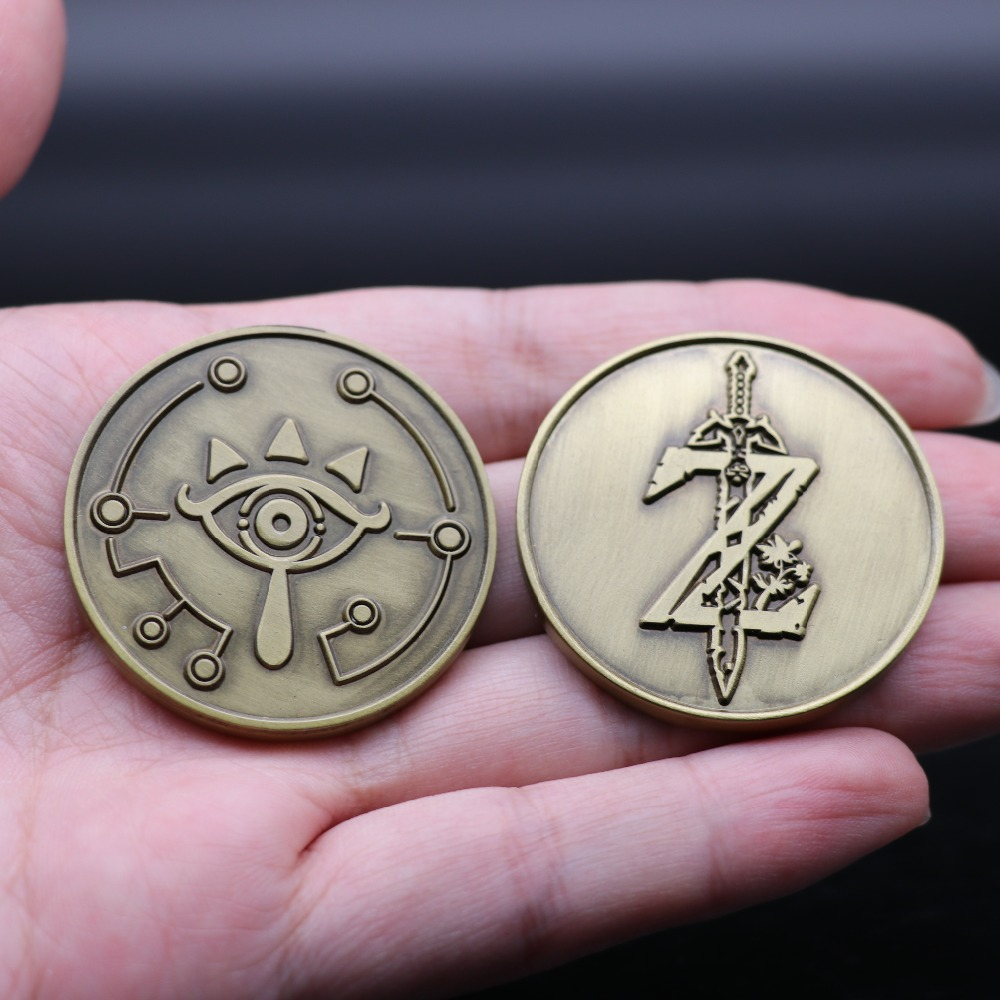 Hot New Game The Legend Of Zelda Coin Breath Of The Wild Collect Coin Commemorative Coins Badge Christmas Fans Gift 4CM Metal