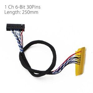 Image 4 - T. driver de tv universal led v53.03, placa para controlador de tv/pc/vga/hdmi/usb + 7 teclas cabo 6bit lvds + 1 inversor russo skr