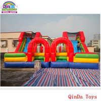 Park rozrywki dla dzieci sprzęt mini zamek ze zjeżdżalnią, 7*7 m nadmuchiwane elastyczna zjeżdżalnia dla dzieci