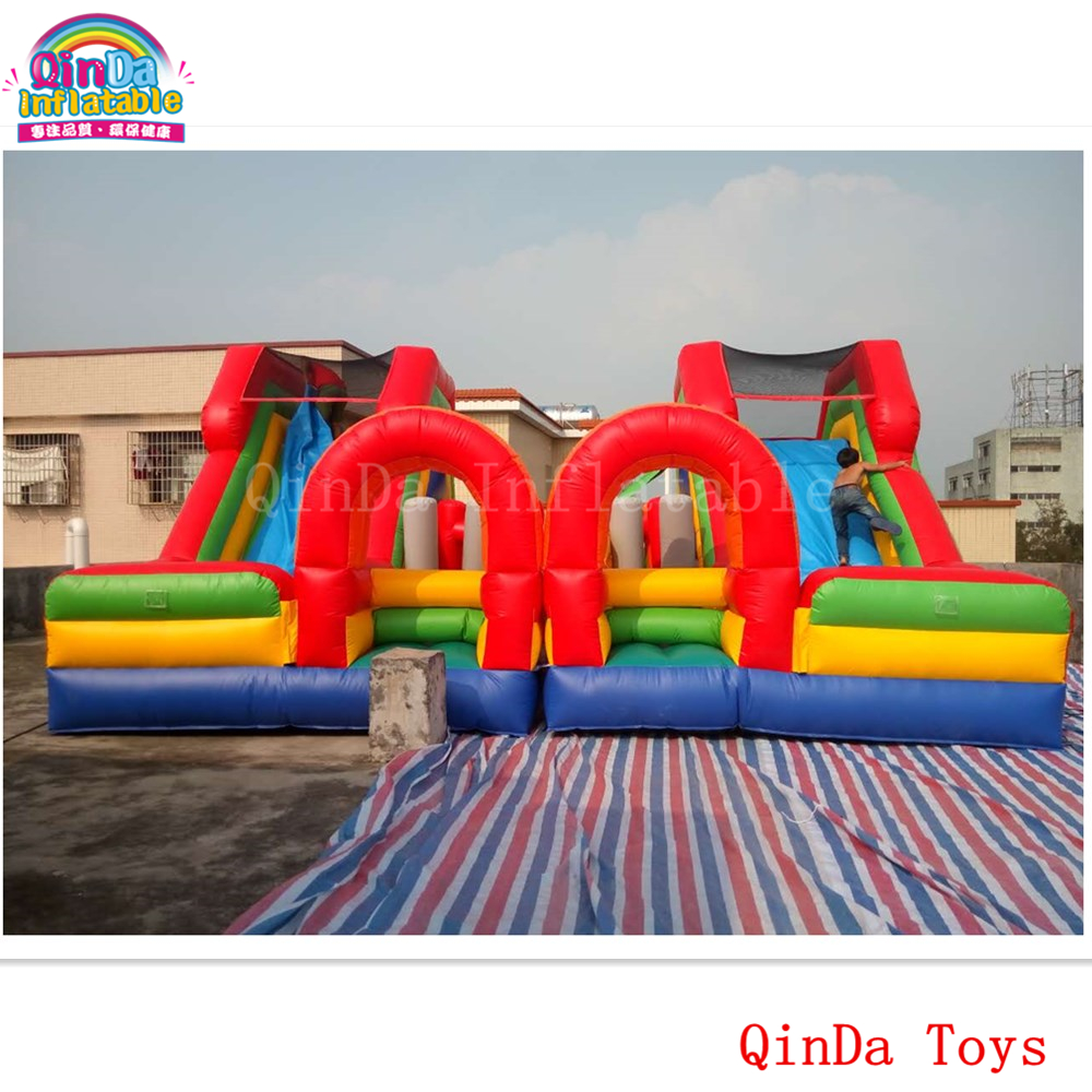 Children amusement park equipment mini castle with slide ,7*7m inflatable bouncy slide for kids play inflatable slide with pool children size inflatable indoor outdoor bouncy jumper playground inflatable water slide for sale
