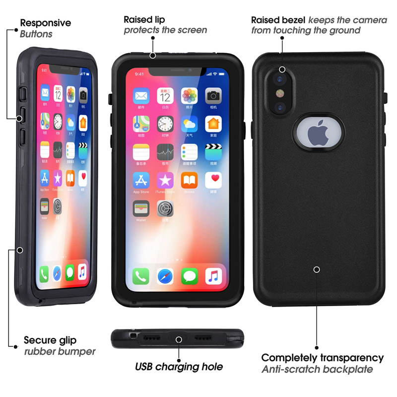 IP68 Waterproof Diving phone case dive back housing house style cover for iphone X 6 6s 7 7s 8 plus samsung S8 sport plus cases