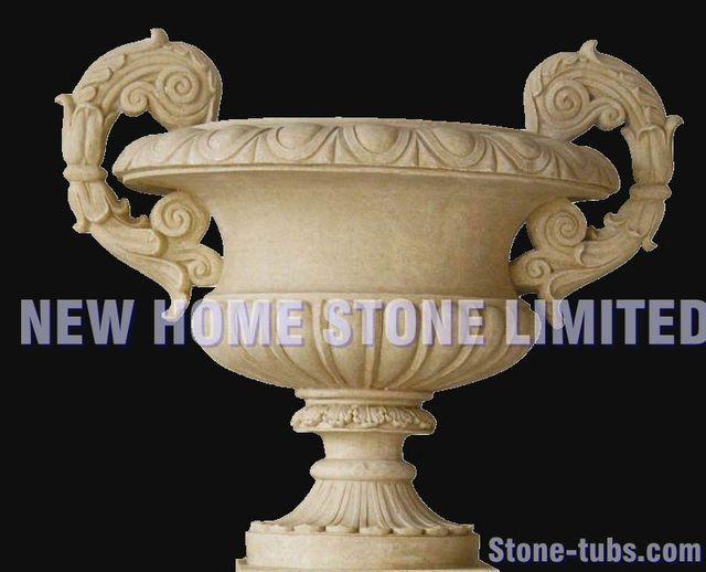 pretty flower pot decoration stone natural garden ideas 2015 new designer holy grail beige stone hand