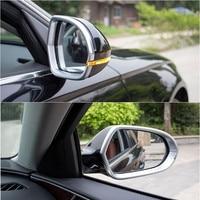 Chrome ABS Moldura de Espelho Retrovisor Espelhos Retrovisores Capa Guarnição A6 C7 2pcs Para Audi 2012-2017 Car Styling Acessórios Auto