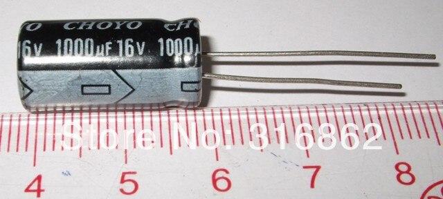 Free Shipping 16V1000UF 16V 1000UF size 8*12 electrolytic capacitor ORIGINAL100% 100PCS/LOT Electronic Components kit
