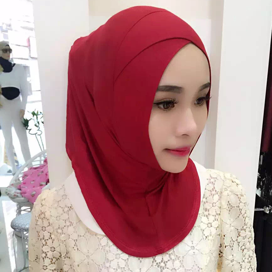Muslim Headscarf Cross Head, Headscarf, Women's Bottom Cap, Headband Inner Hijab Cap