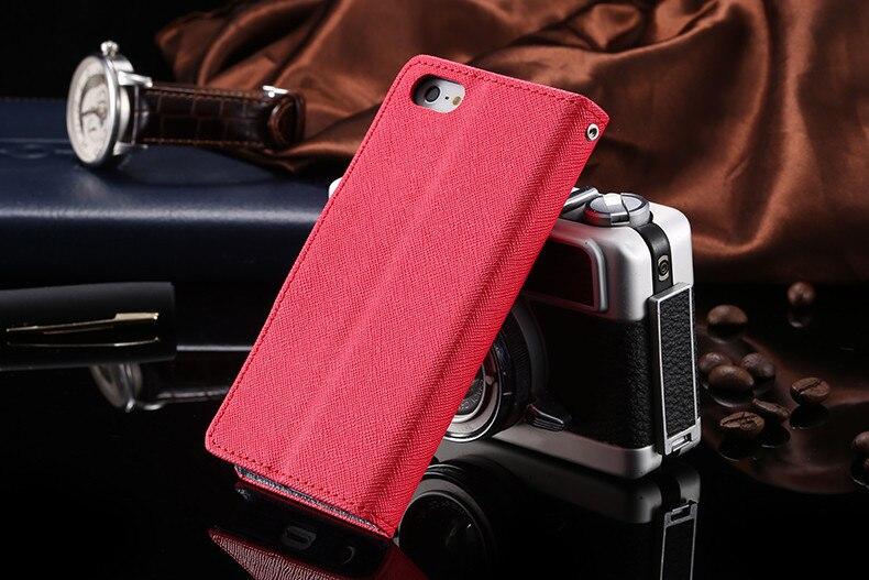 Podwójny kolor klapki skóra telefon torba case dla iphone 6 7 6 s plus 5 5S se gniazda kart + stojak kabura pokrowiec case dla iphone 7 6 6 s 51