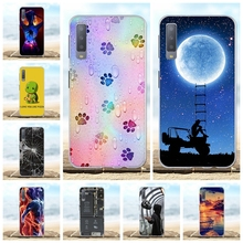 For Samsung Galaxy A7 2018 Cover Soft TPU A750 A750F A750FN Case Lion Pattern Bag