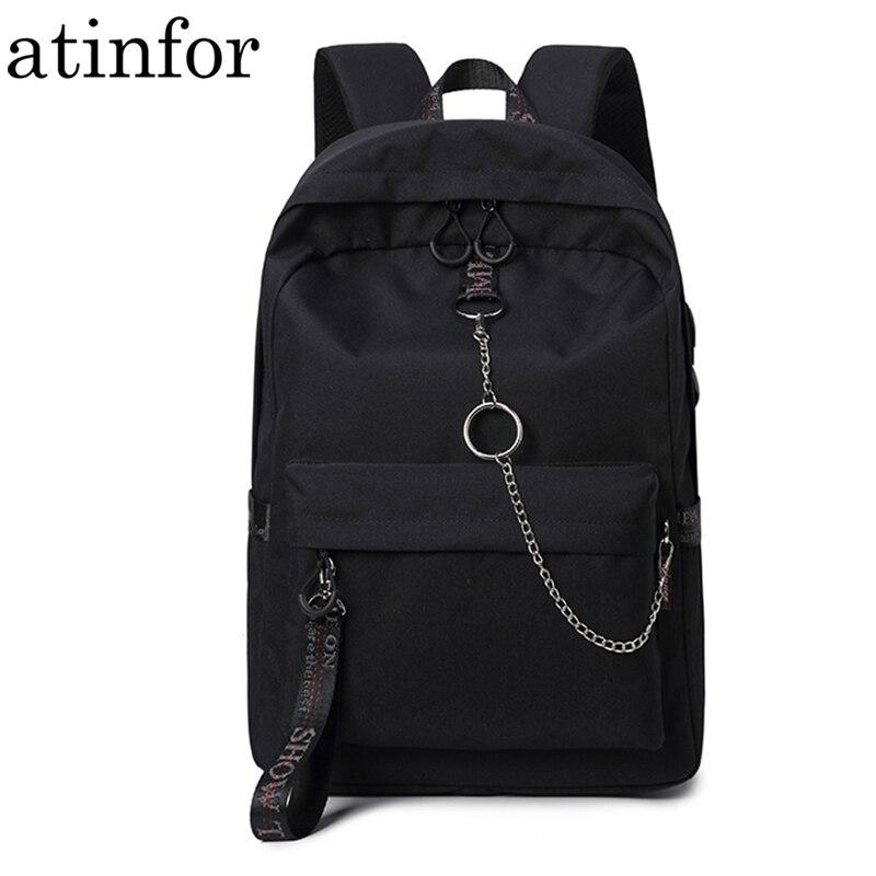 A Gray SUPPION Women Girls Canvas Preppy Monkey Shoulder Bookbags School Travel Backpack Bag
