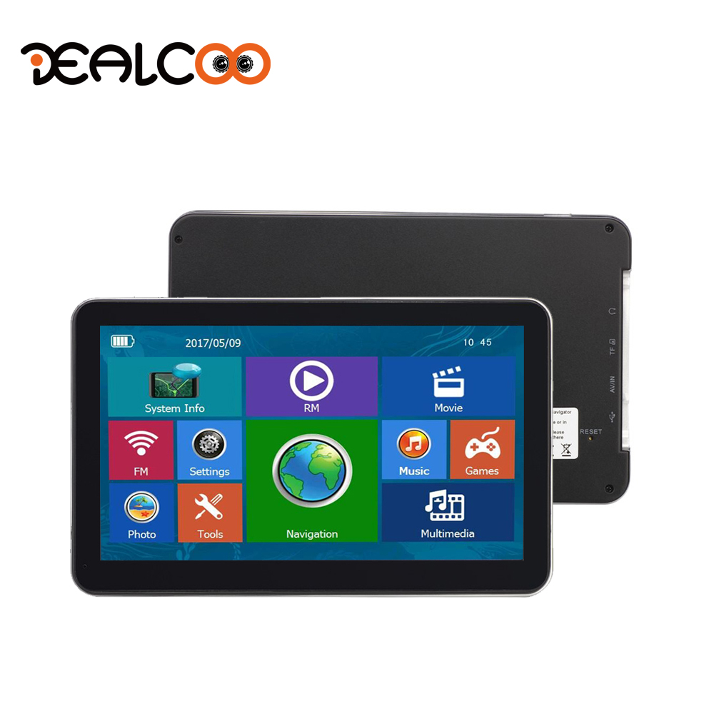 Dealcoo 7 inch HD Car GPS Navigation FM 8GB/128M DDR/800MHZ 2015 Map Free Upgrade Russia/Belarus/Spain/ Europe/USA+Canada/IsraelDealcoo 7 inch HD Car GPS Navigation FM 8GB/128M DDR/800MHZ 2015 Map Free Upgrade Russia/Belarus/Spain/ Europe/USA+Canada/Israel