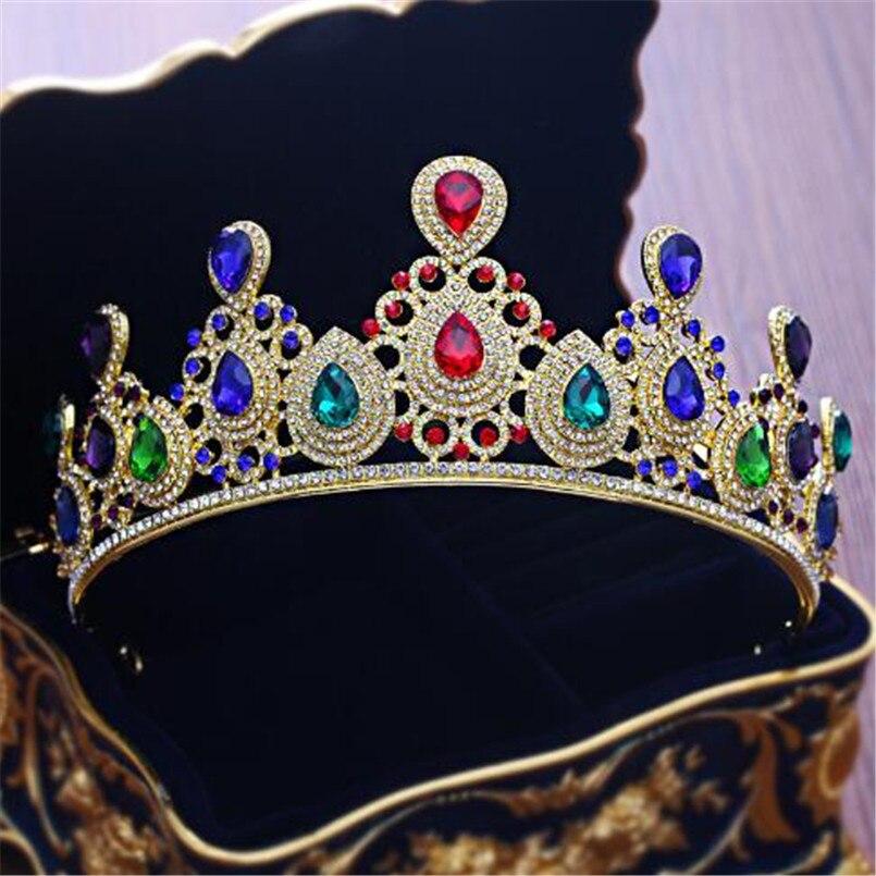 Olaru Good Quality Crystal Queen Crown Woman Princess Wedding Events Tiaras  Hairwear Charm Bridal Crown Jewelry Accessories HotUSD 8.35 piece 5d5d4cd92420