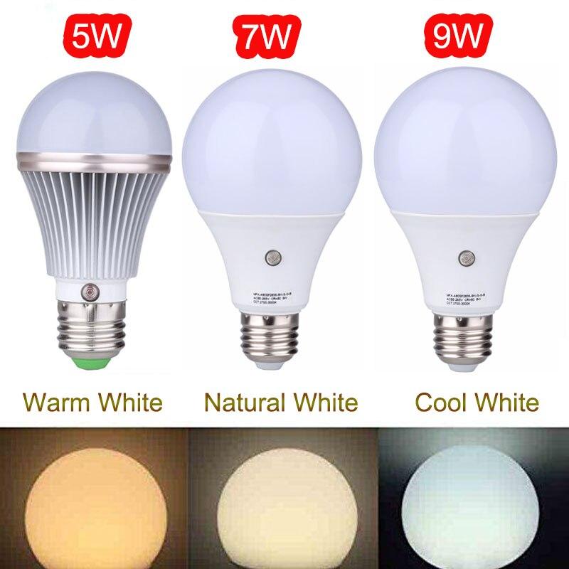 MIFXIN 5W/7W/9W E27 Dusk to Dawn Auto Sensor Light Bulb Sensor LED Lamp Auto Lamp Bulbs