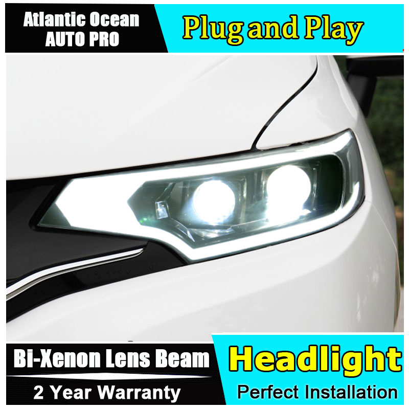 AUTO.PRO for Honda Fit headlights 2014-2017 models car styling LED car styling xenon lens car light led bar H7 led parking electric car motorcycle 15w led headlights modification lens light 12 60v