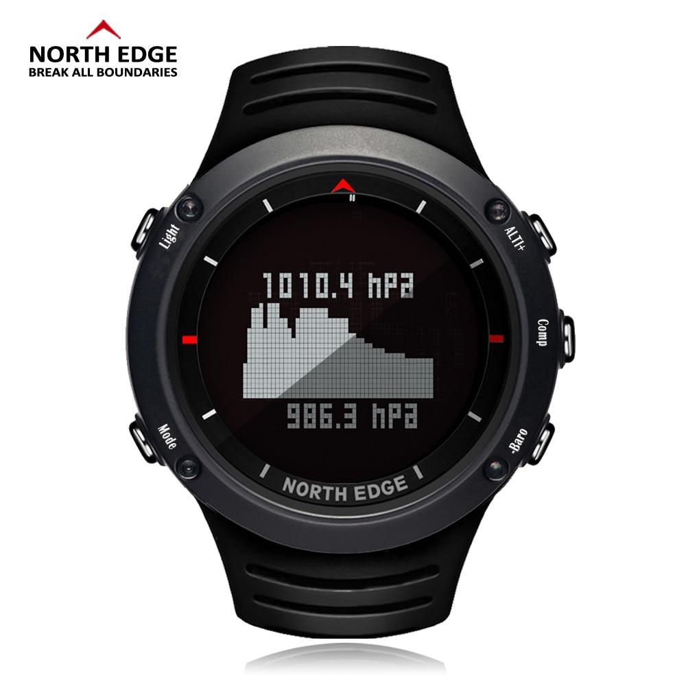 Wristwatch Compass Weather-Forecast North-Edge Running Climbing Sport Altimeter Digital