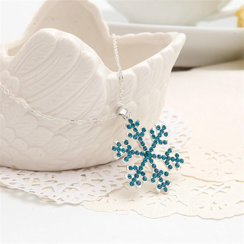 2019 4 színű hópehely cirkónium medál rózsa arany színű party ajándék nagykereskedelem ékszerek nők nyaklánc ajándék ékszerek