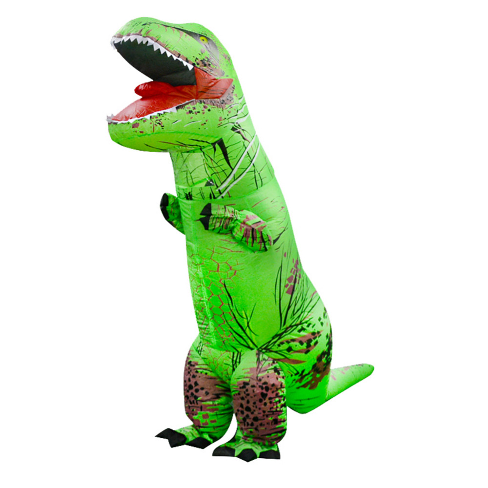 CoöPeratieve Opblaasbare Dinosaurus T-rex Kostuum Speelgoed Halloween Cosplay Dinosaur Animal Fantasy Kostuums Jumpsuit Voor Volwassen