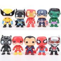 10pcs/set Marvel The Avengers Endgame 10cm Action Figure Toy Captain America Spider Man Iron Man Hulk Panther Anime Model Toys