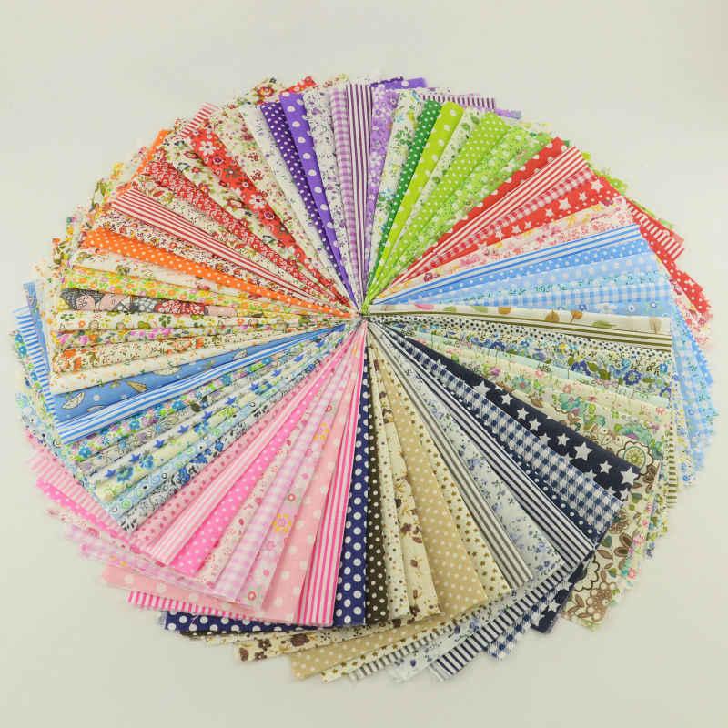 80 pz/lotto 20*24 Scrapbooking Tessuto Tinta Unita Square Nessuna Ripetizione di Colore Diverso Modello di Tessuto di Cotone 100% Bambole Trapuntato Tecidos