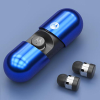 Original MOTOROLA TWS VB400 Wireless Bluetooth earphones 3D stereo earphones with microphone IPX7 Waterproof with Charging box
