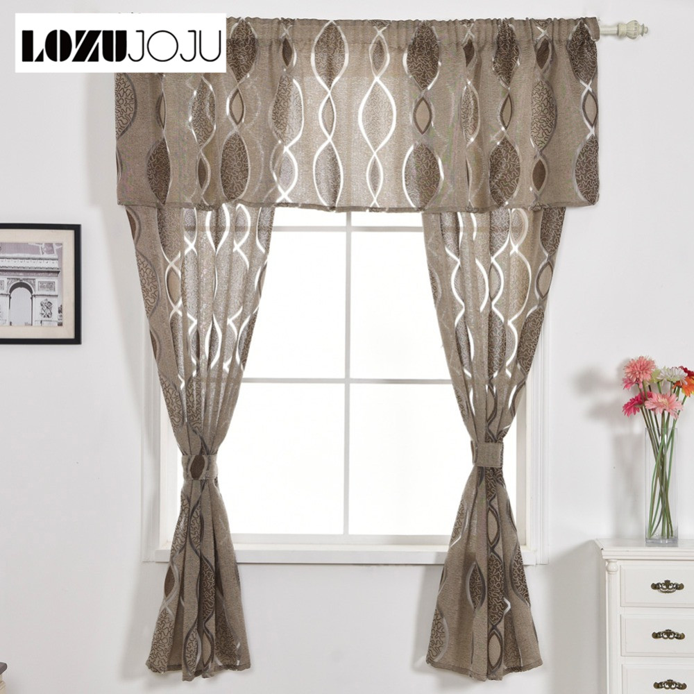 Geometric Jacquard Modern Curtains Simple Design Living: LOZUJOJU Free Shipping Home Room Treatment Kitchen