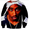 Raisevern Spring Jumper 2pac Tupac  Sweatshirt Harajuku Hoodies 3D Printed  Tops tupac shakur Crewneck Clothing Women/Men