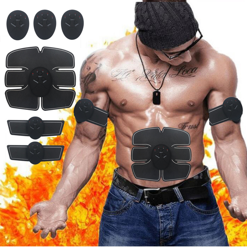 2019 Power Fit Vibration Abdominal Muscle Trainer Body Slimming Machine Fat Burning Fitness Massage Abdominal Loss Exercise Belt
