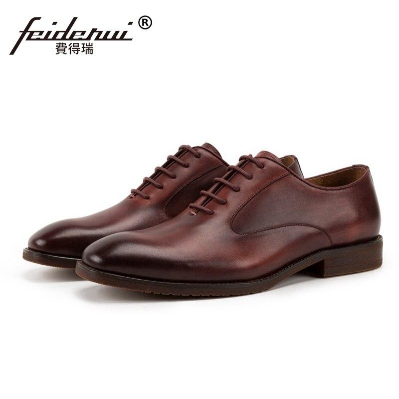 De Hombres Calidad La Negocios vino Dedo Del Ss153 Tinto Zapatos Hombre Cuero Formal Boda Oficina Pie Redonda Coffee Vestido Calzado Lujo Alta Genuino 8wSdnqZzw