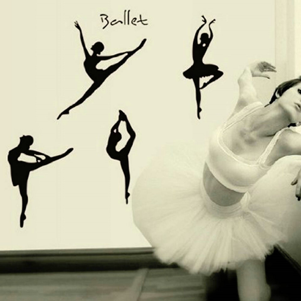 Decal picture more detailed picture about ballerina wall decal ballerina wall decal ballerina dancer dance ballet vinyl wall decal graphic stickers for girls kids amipublicfo Gallery