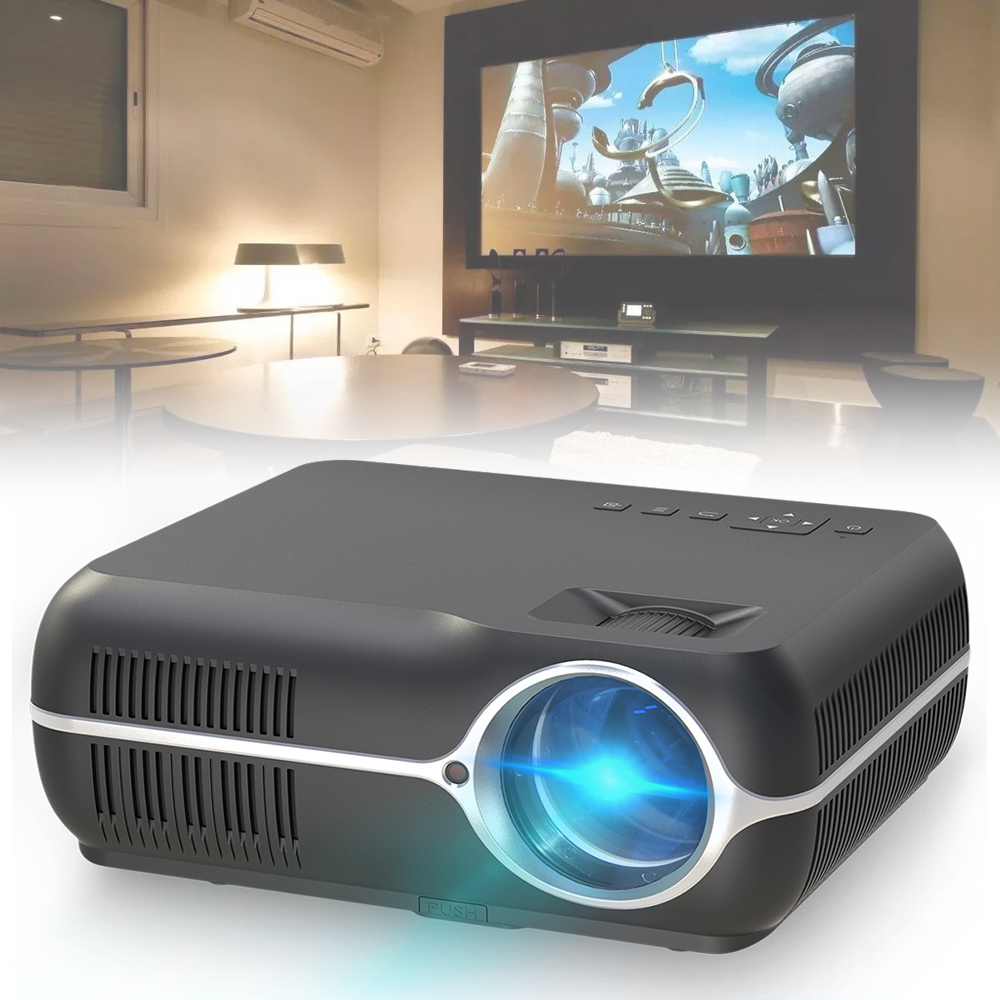 DH-A10 1080P Video Home Cinema Android 6.0 OS LED Full HD Projector Stereo Surround Double Horns Support Simultaneous Screen(China)