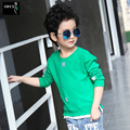 2017 Number Letter Boys Embroidery T shirt For Kids Summer T-shirts Baby Boy Funny Birthday T-shirts Kids Boys Casual Tops 2-10Y
