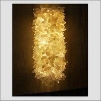 Luminária de parede de pedra de cristal natural  luzes led de decoração personalizada  para vila  hotel e parede