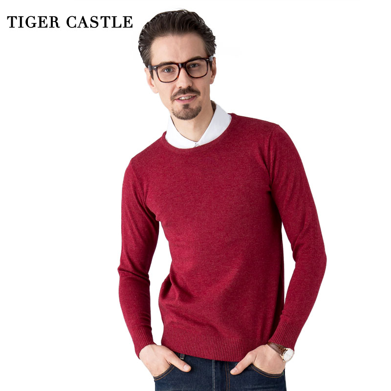 TIGER CASTLE Men Knitted Sweater Brand Quality Elastic Pullovers for Men Spring Autumn Lightweight Male Casual SweatshirtsXGL008