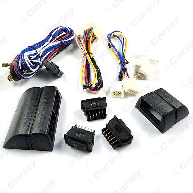 Universal power window 3pcs switches with Holder and wire Harness  #CA2468