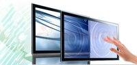 Цифровой рекламы 46 дюймов ик сенсорный экран, 10 очков инфракрасный сенсорный кадров