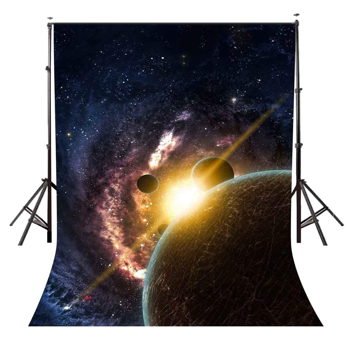 5x7ft Starry Sky Backdrop Dark Color Cosmic Science Photography Background and Studio Photography Backdrop Props-in Photo Studio Accessories from Consumer Electronics