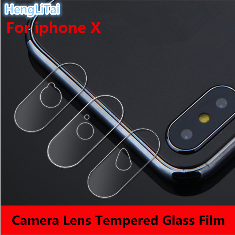 10pcs Dedicated camera protective flexible Rear Transparent Back Camera Lens Tempered Glass Film Protector Case For iphoneX