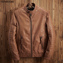 Motorcycle Leather Jackets Men Autumn Winter Leather collar Top Brand Clothing High Quality Fashion Motorcycle Male Overcoat