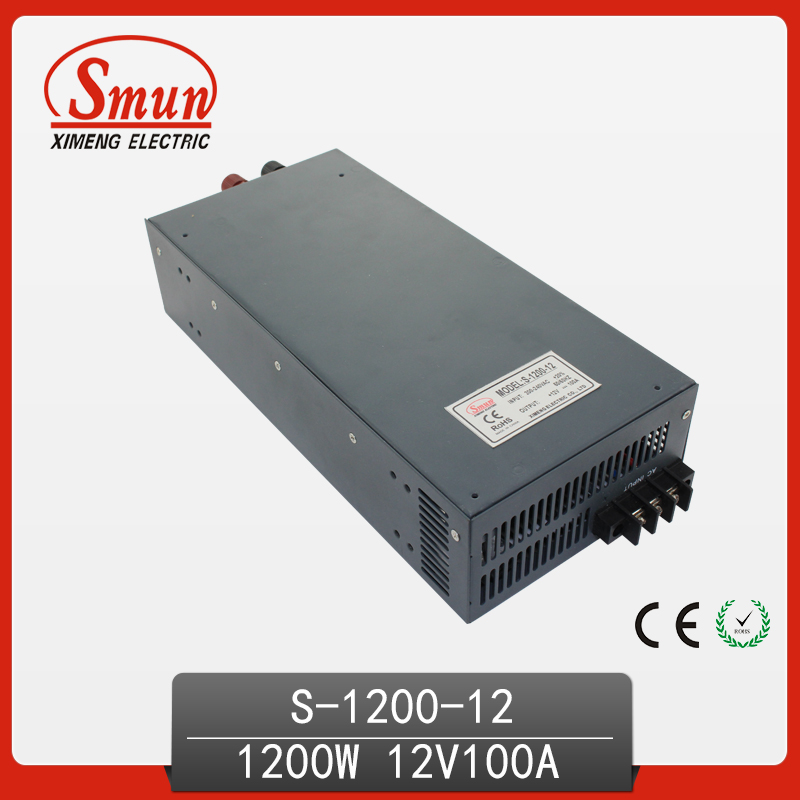 12V 100A Single Output Switching Power Supply with CE ROHS from China Supplier Industrial and Led Used 125a 220v 2p e industrial male plug 3pins with ce rohs 1 year warranty