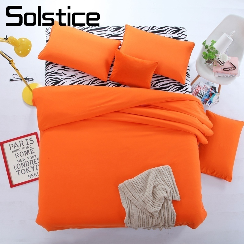 Solstice Pillowcase Bedding-Set Duvet-Cover Linen Flat-Sheet Home-Textile Girls Stripe
