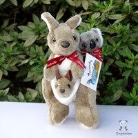 En peluche Jouets Australien Mère Et Fils Kangourou Poupée Dos Koala Poupées Enfants Jouet Cadeau