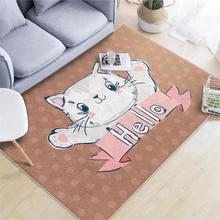 Nordic Cartoon Cat Carpet Living Room Sofa Coffee Table Bedroom Cute Bedside Tatami Mat