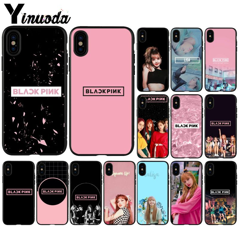 Yinuoda BLACKPINK LISA Kpop Beautiful Phone Accessories Case for Apple iPhone 8 7 6 6S Plus X XS MAX 5 5S SE XR Cellphones iphone