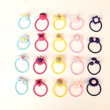 1piece Random patterns New Girls Cute Cartoon Elastic Hair Bands Headwear Scrunchies Rubber Bands Headbands Hair Accessories(China)