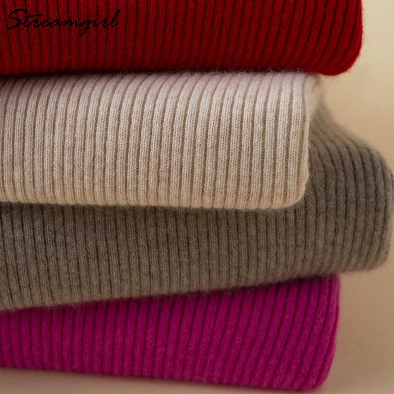 Rollkragen Frauen Kaschmir Pullover Frauen Winter Pullover Damen Warme Winter Frau Pullover Stricken Pullover Weibliche Pullover 2019