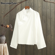 2019 chinese style women hanfu costume cantonese embroidered shirt clothes traditional beautiful dance top