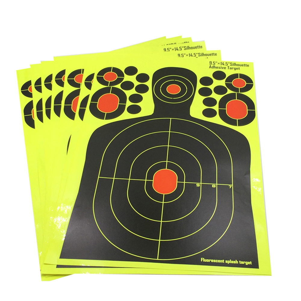 25pcs / LOT Splash Flower Silhouette Sticker Target 9.5 * 14.5 Adhesive Reactivity Shoot Target for Gun Adhesive Target